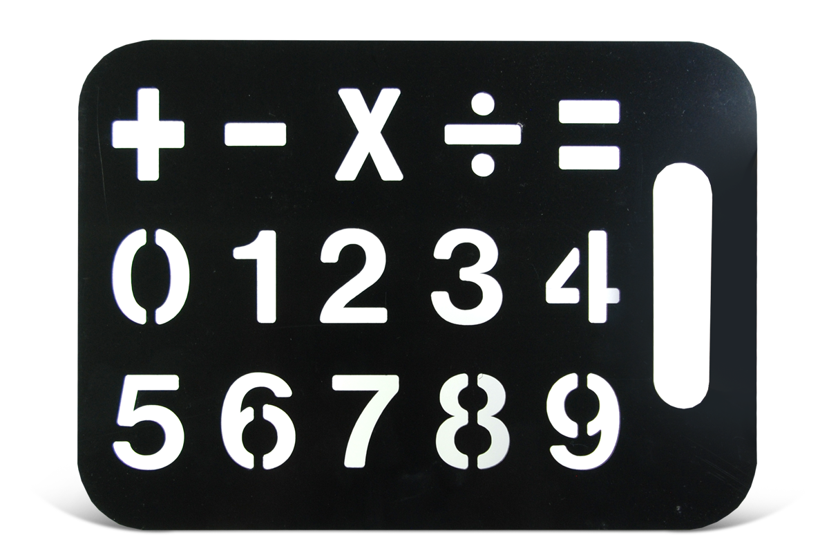 Stencil Number Board W Math Symbols Growing Kids Therapy Center
